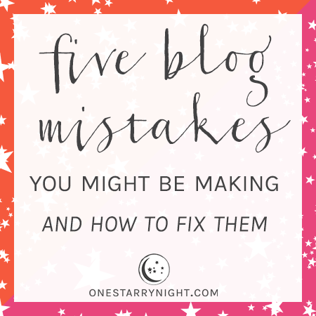 Five Blog Mistakes