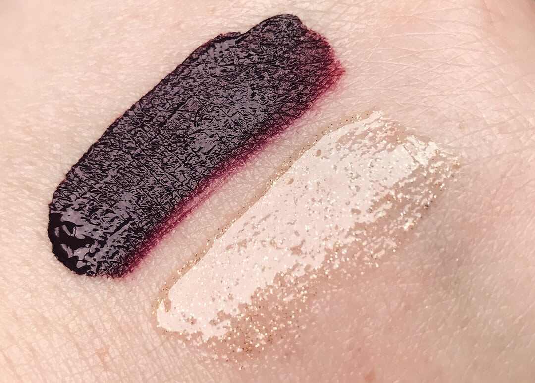 Dose of Colors DESI x KATY Collection Lip Product Swatches in Savage and Over the Top
