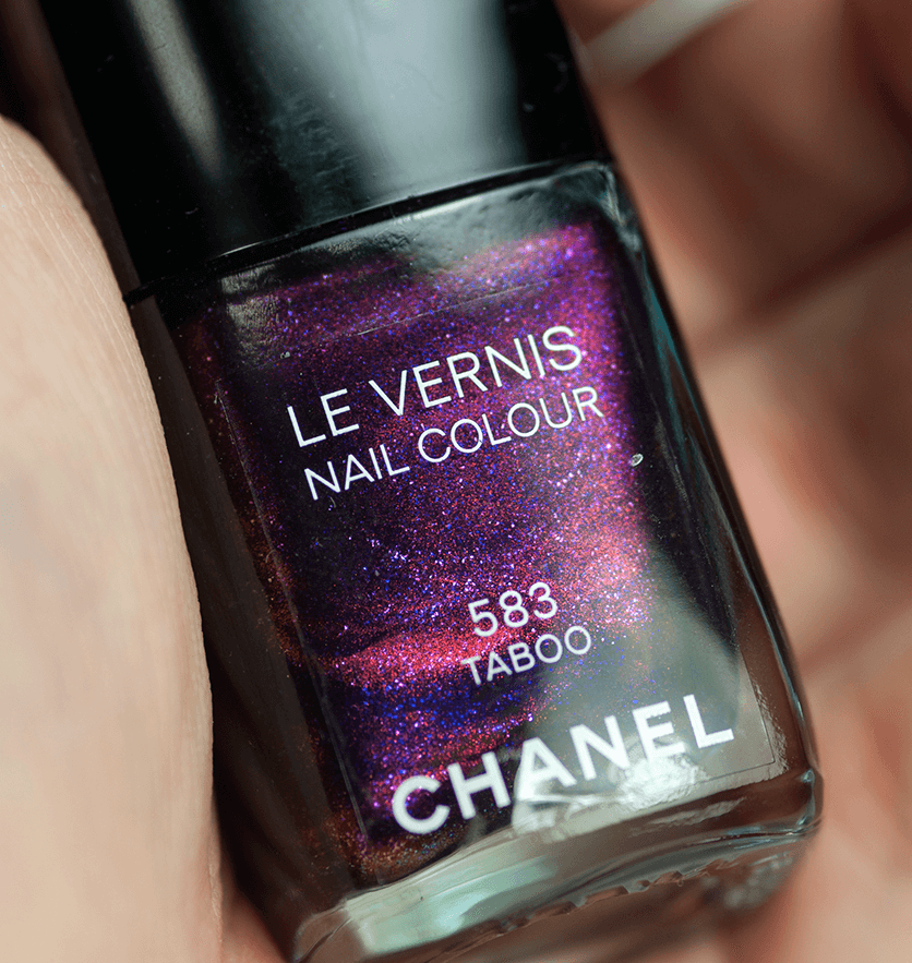 Chanel Nail Polishes in Taboo, Black Pearl, and Blue Satin ...